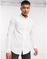 Armani Exchange Белая Рубашка С Длинными Рукавами И Логотипом -белый