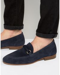 H by Hudson | Renzo Suede Loafers | Lyst