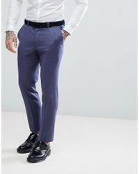 Wedding Slim Suit Trousers In Navy 100% Wool - Navy Asos Cheap Price In China UYFSD