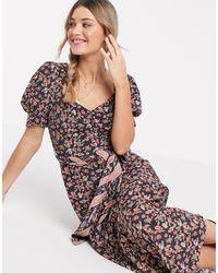 Cleobella Carly Floral Midi Dress - Black