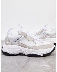 Calvin Klein Бело-кремовые Кроссовки Marvin-белый
