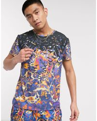 Blood Brother All Over Print T-shirt - Purple