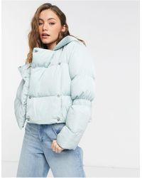 NA-KD X Jasmin Azazim Padded Short Jacket - Blue