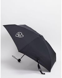 Moschino – Mini-Regenschirm - Schwarz