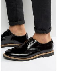 Farah Saint Hi Shine Derby Shoes - Black