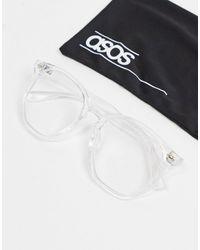ASOS Очки В Прозрачной Оправе С Прозрачными Стеклами И Защитой От Синего Излучения - Многоцветный