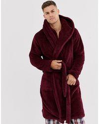 ASOS Lounge - Fleece Badjas - Rood