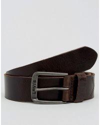 Levi's - Levi's Classic Leather Belt Brown - Lyst
