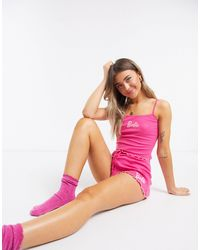 ASOS Mix & Match Barbie Pyjama Short - Pink