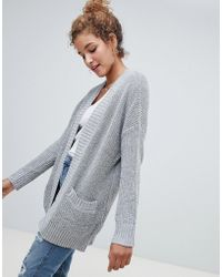 Hollister - Shaker Open Knit Cardigan - Lyst