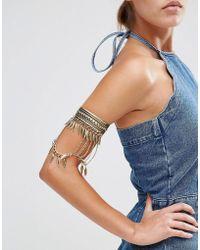 New Look - Gold Leaf Drape Arm Cuff - Lyst