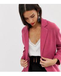 Stradivarius Jersey Throw On Coat - Pink