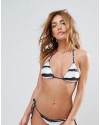 Wildfox - Stripe Reversible String Bikini Top - Lyst