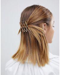 ASOS - Criss Cross Hair Clip In Gold - Lyst