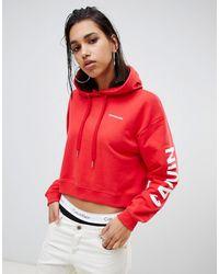 Calvin Klein Худи С Большим Логотипом На Рукавах - Красный