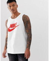 Nike Futura - Débardeur à logo - Blanc
