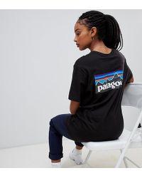 Patagonia - Oversized P-6 Logo Organic T-shirt In Black - Lyst
