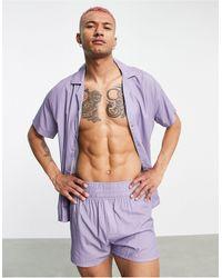 ASOS Pijama con estampado - Morado