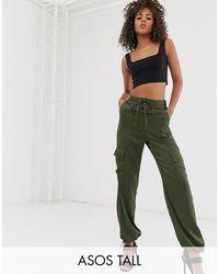 ASOS Pantalones utilitarios con detalle - Verde