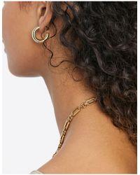 Ashiana Premium Range Small Gold Chunky Hoops - Metallic