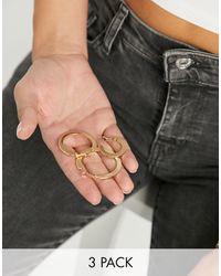 ASOS - Pack Of 3 Hoop Earrings - Lyst
