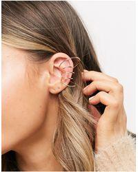 ASOS Bijou d'oreille coulissant avec anneaux multiples - Métallisé