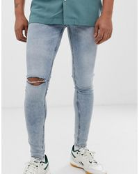 Cheap Monday - Him Spray Super Skinny Jeans In Hex Blue - Lyst