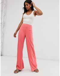 UNIQUE21 Wide Leg Pants - Pink