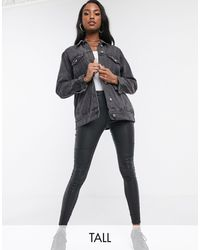 Missguided Oversized Denim Jacket - Black