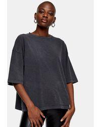TOPSHOP Oversized T-shirt - Black