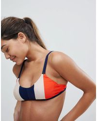 Y.A.S - Color Block Stripe Bikini Top - Lyst
