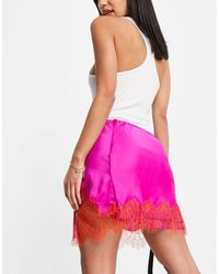 Free People All Tied Up - Gonna sottoveste con finiture - Rosa