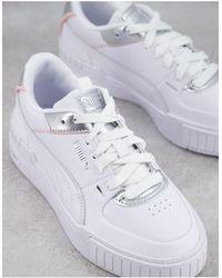 PUMA - Белые Кроссовки С Серебристой Отделкой Cali Sport – Эксклюзивно Для Asos-белый - Lyst