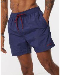 DKNY Logo Swim Shorts - Blue