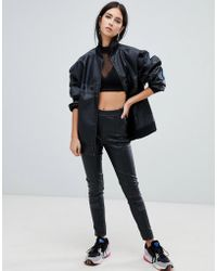 adidas Originals - Aa-42 Faux Leather Pants In Black - Lyst