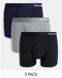 Abercrombie & Fitch – 3er-pack unterhosen mit logobund - Mehrfarbig
