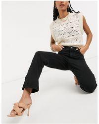 Vila Straight Leg Jean - Black