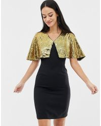 UNIQUE21 - Sequin Cape Bodycon Dress - Lyst