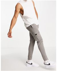 New Look Jogger skinny style utilitaire - Gris