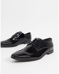 TOPMAN Zapatos Derby en charol - Negro