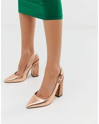 River Island Heeled Shoes With Sling Back - Multicolor