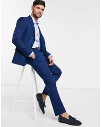 Moss Bros Moss London - Pantalon - Bleu