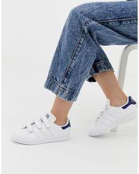adidas Originals Бело-синие Кроссовки Stan Smith Cf-белый