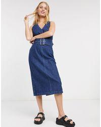 SELECTED – Demina – es Jeanskleid mit Gürtel - Blau
