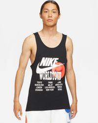 Nike World Tour Pack Graphic Print Tank Top - Black