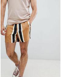 ASOS Pantaloncini slim a righe larghe - Multicolore