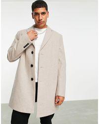 Rudie Premium Wool Blend Overcoat-brown - Natural