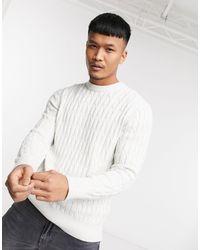 Celio* Cable Knit Jumper - White
