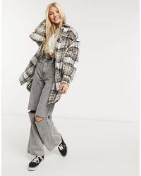 ONLY - Удлиненная Клетчатая Куртка-рубашка -многоцветный - Lyst