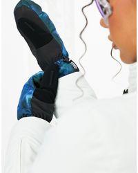 ASOS 4505 Разноцветные Горнолыжные Варежки С Утеплителем -мульти - Синий